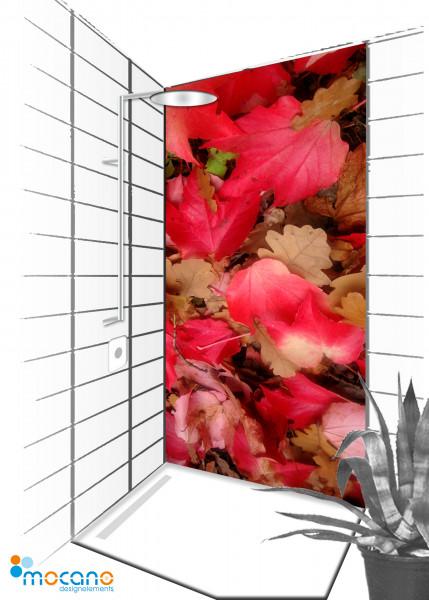 Duschrückwand Herbstlaub 90x210cm - Wohnbeispiel