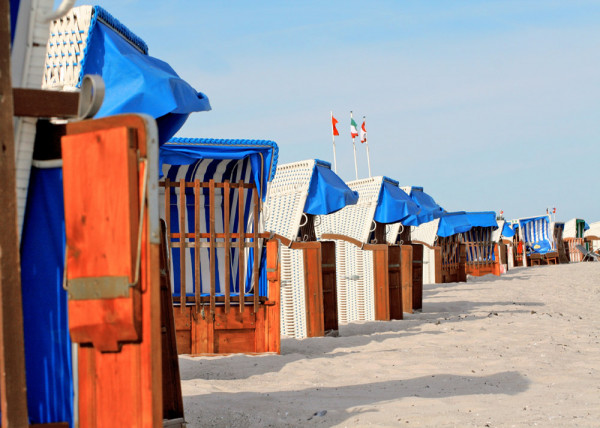 Strandkörbe 21 Fototapete