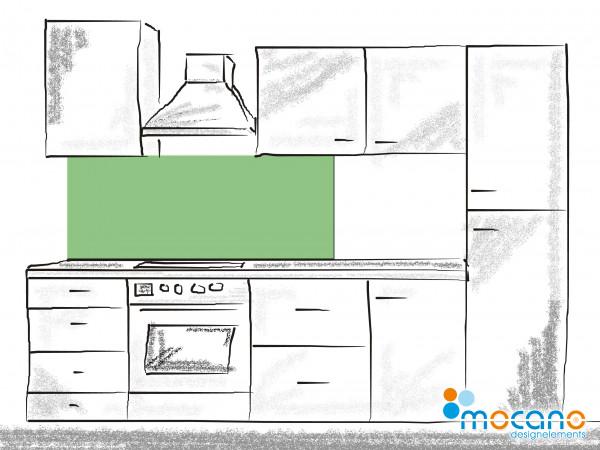 Küchenrückwand Avocado Grün einfarbig UNI 150x60cm - Wohnbeispiel
