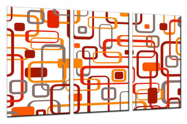 Retro Classic Line 002 - Mehrteiliges Leinwandbild