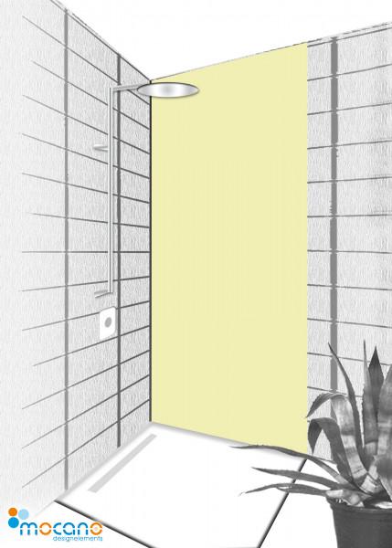 Duschrückwand Pistazie 80x210cm einfarbig UNI - Wohnbeispiel