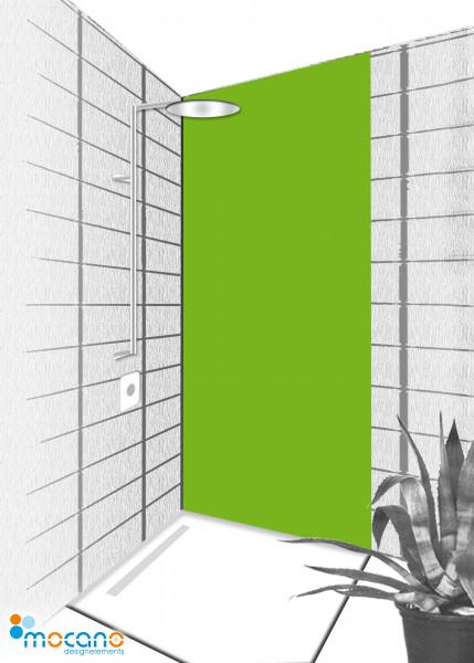 Duschrückwand Frühlings Grün 80x210cm einfarbig UNI - Wohnbeispiel
