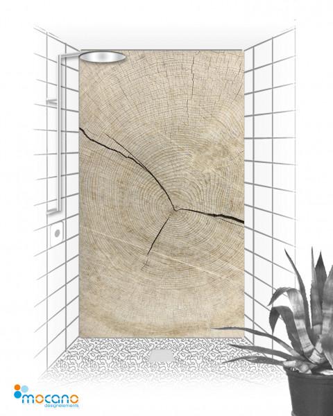 Duschrückwand Holzstruktur Eiche 120x210cm - Wohnbeispiel