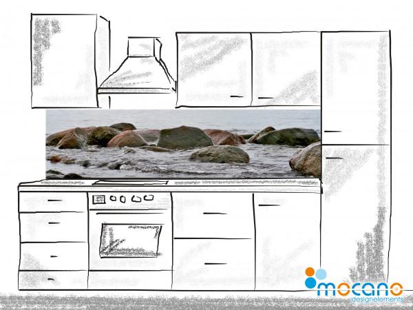 Küchenrückwand Dreaming Landscape 10 - 200x50cm - Wohnbeispiel