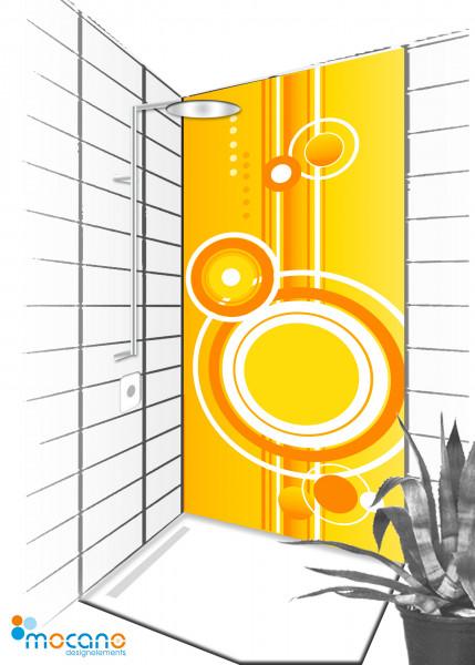 Duschrückwand Retro 5 - 90x210cm - Wohnbeispiel
