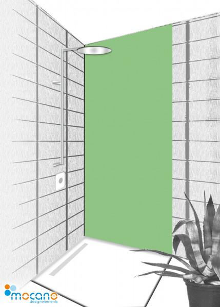 Duschrückwand Avocado 80x210cm einfarbig UNI - Wohnbeispiel