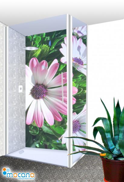 Duschrückwand - Flower 29 Wohnbeispiel