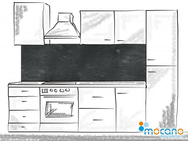 Küchenrückwand Schiefer 200x60cm - Wohnbeispiel