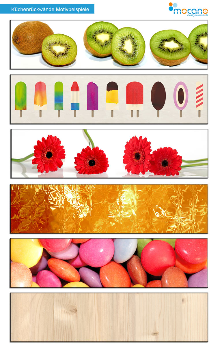 Küchenrückwand Motive - Beispiele aus stabilem Alu DiBond