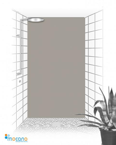 Duschrückwand Mittel Grau einfarbig UNI - Wohnbeispiel