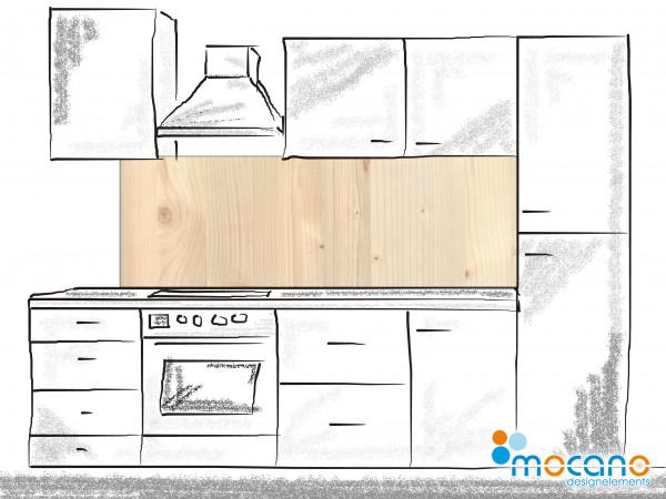 Küchenrückwand Holzoptik Fichte 180x60cm - Wohnbeispiel