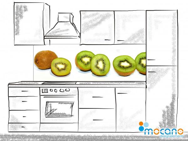 Küchenrückwand Kiwis 180x60cm - Wohnbeispiel