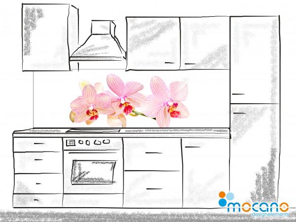 Küchenrückwand Orchidee 3 - 200x60cm Wohnbeispiel