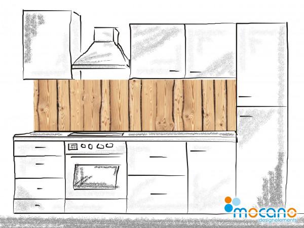 Küchenrückwand Holzoptik Rustikal 200x50cm - Wohnbeispiel