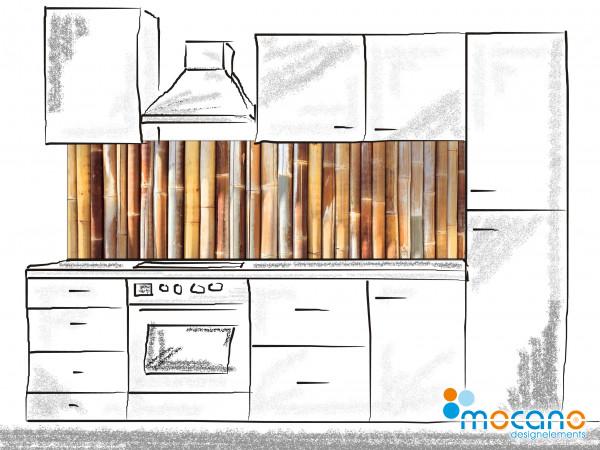 Küchenrückwand Bambus - 200x60cm Wohnbeispiel