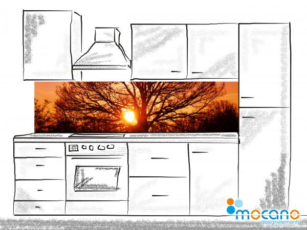 Küchenrückwand Tree of Life 2 - 200x50cm - Wohnbeispiel