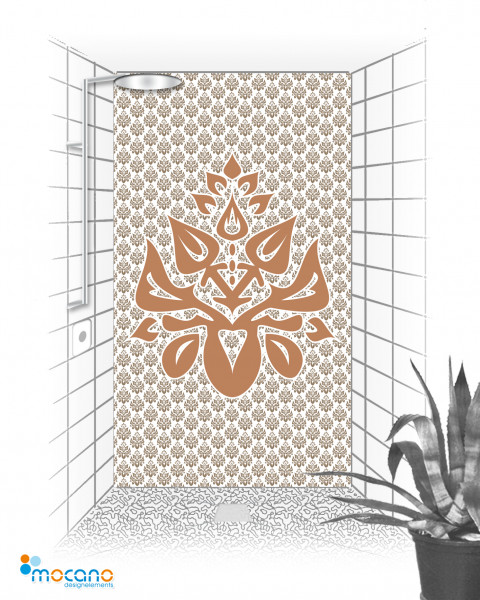Duschrückwand Luxury Design Emblem 120x210cm - Wohnbeispiel