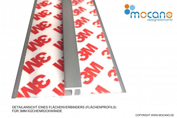 Flächenverbinder für 3mm Küchenrückwände