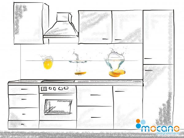 Küchenrückwand Splash Orange 200x60cm - Wohnbeispiel