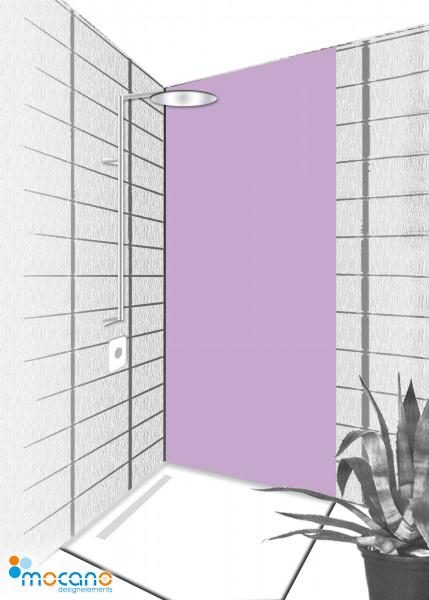 Duschrückwand Flieder 80x210cm einfarbig UNI - Wohnbeispiel