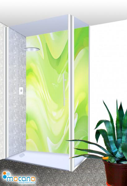 Duschrückwand - Green Lounge Wohnbeispiel
