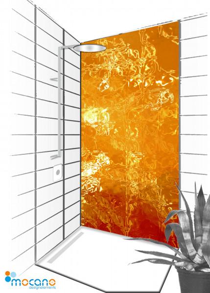 Duschrückwand Vulkaneruption 076 - 90x210cm - Wohnbeispiel