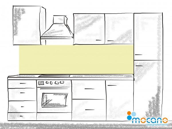 Küchenrückwand Pistazie einfarbig UNI 200x50cm - Wohnbeispiel