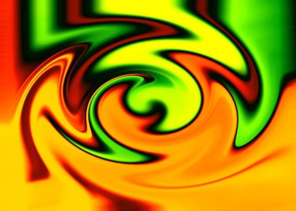 Yellow Twister Fototapete