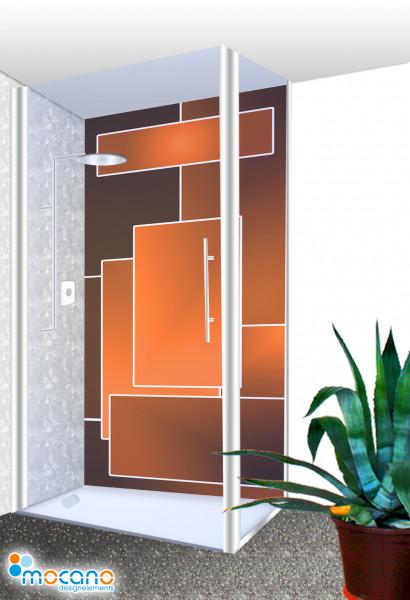 Duschrückwand - Orange Lounge Wohnbeispiel