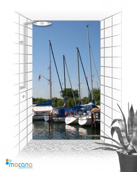 Duschrückwand Hafen 120x210cm - Wohnbeispiel
