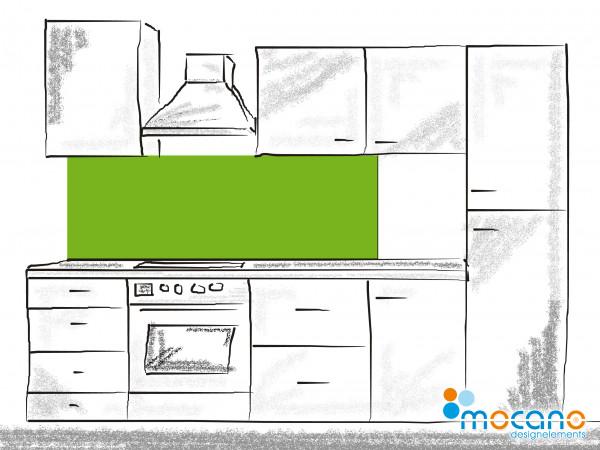 Küchenrückwand Frühlings Grün einfarbig UNI 180x50cm - Wohnbeispiel