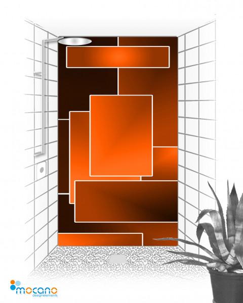 Duschrückwand Orange Lounge 120x210cm - Wohnbeispiel