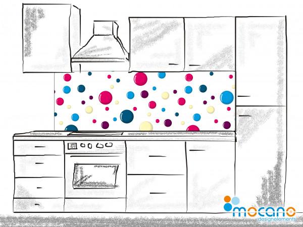 Küchenrückwand Color Bubbles 180x60cm - Wohnbeispiel