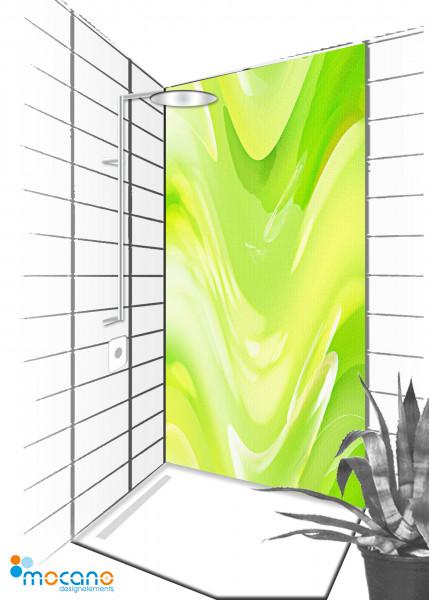 Duschrückwand Green Lounge 90x210cm - Wohnbeispiel