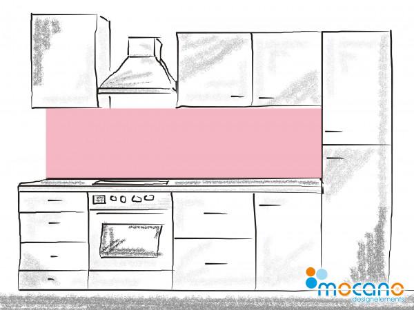 Küchenrückwand Hell Rosa einfarbig UNI 200x60cm - Wohnbeispiel