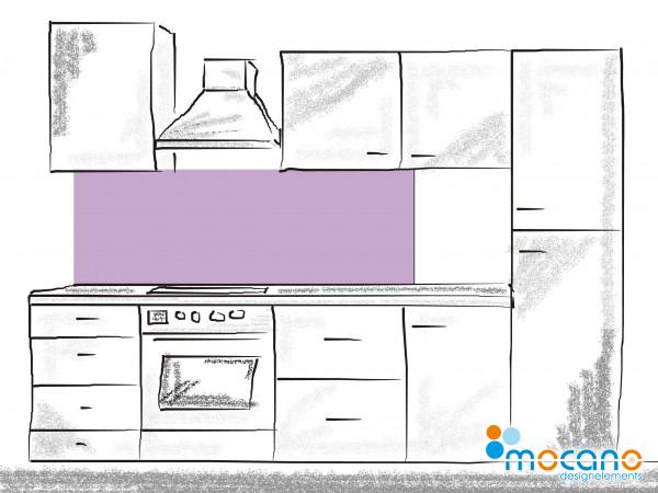 Küchenrückwand Flieder einfarbig UNI 180x50cm - Wohnbeispiel
