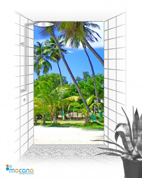 Duschrückwand Jacmel Haiti Insel 120x210cm - Wohnbeispiel