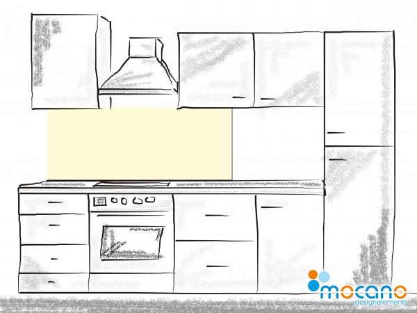 Küchenrückwand Beige einfarbig UNI 150x60cm - Wohnbeispiel