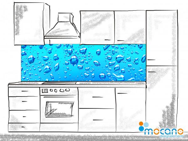 Küchenrückwand Wassertropfen 200x60cm - Wohnbeispiel