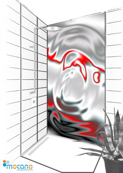 Duschrückwand Metallic Drop 90x210cm - Wohnbeispiel
