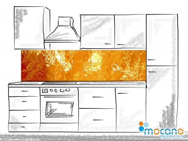 Küchenrückwand Vulkaneruption 200x50cm - Wohnbeispiel
