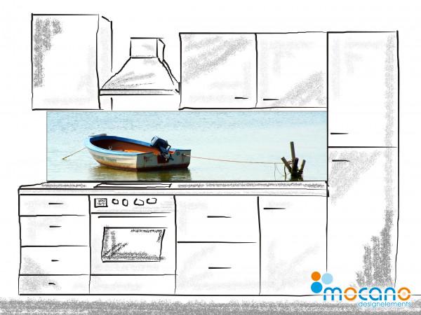 Küchenrückwand Boat Trip 200x50cm - Wohnbeispiel