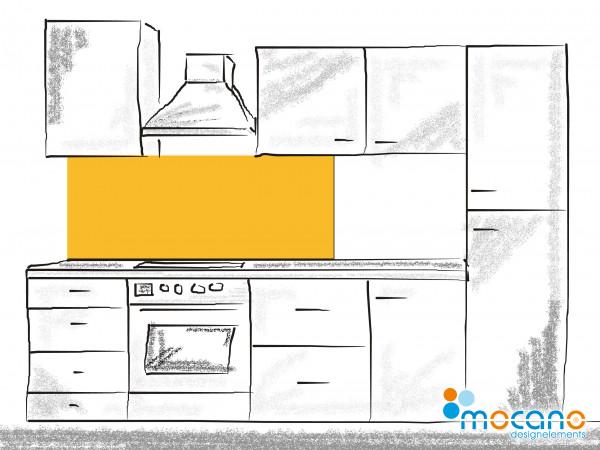 Küchenrückwand Gold Gelb einfarbig UNI 150x50cm - Wohnbeispiel