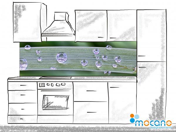 Küchenrückwand Wassertropfen 2 200x60cm - Wohnbeispiel