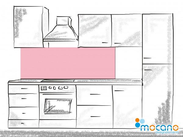 Küchenrückwand Hell Rosa einfarbig UNI 180x60cm - Wohnbeispiel