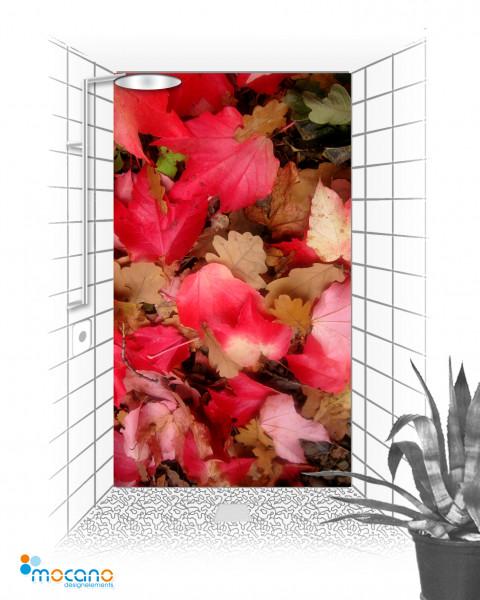Duschrückwand Herbstlaub 2 - 120x210cm - Wohnbeispiel