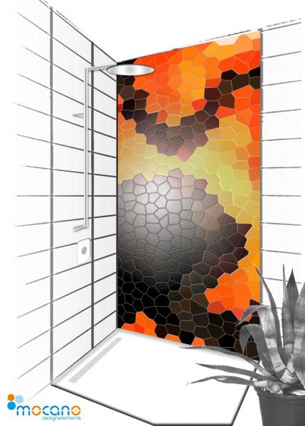 Duschrückwand Fantasy Mosaik 90x210cm - Wohnbeispiel