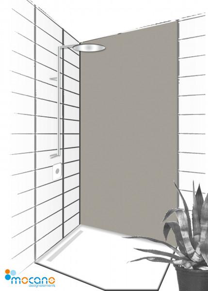 Duschrückwand Mittel Grau 90x210cm einfarbig UNI - Wohnbeispiel
