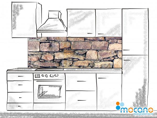 Küchenrückwand Natursteinwand 180x60cm - Wohnbeispiel
