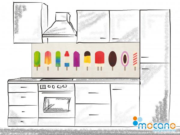 Küchenrückwand Eis 180x60cm - Wohnbeispiel